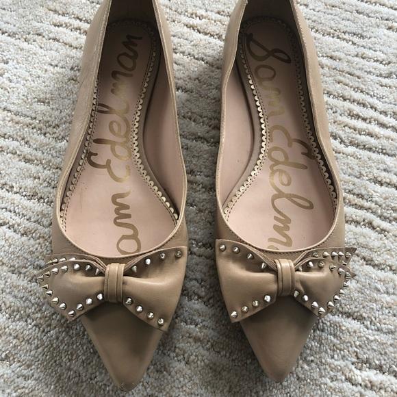 0b14e3d11 Sam Edelman Shoes | Raisa Studded Bow Flat | Poshmark